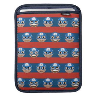 Captain America Emoji Stripe Pattern iPad Sleeve