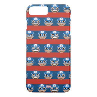 Captain America Emoji Stripe Pattern iPhone 8 Plus/7 Plus Case