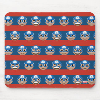 Captain America Emoji Stripe Pattern Mouse Pad