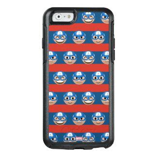 Captain America Emoji Stripe Pattern OtterBox iPhone 6/6s Case