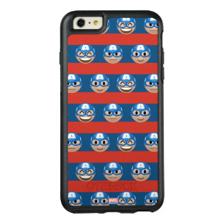 Captain America Emoji Stripe Pattern OtterBox iPhone 6/6s Plus Case