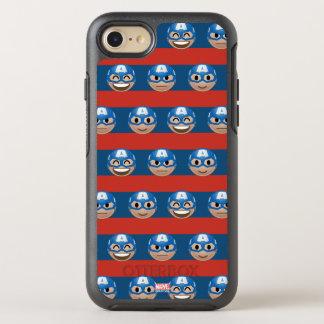 Captain America Emoji Stripe Pattern OtterBox Symmetry iPhone 8/7 Case