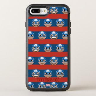 Captain America Emoji Stripe Pattern OtterBox Symmetry iPhone 8 Plus/7 Plus Case