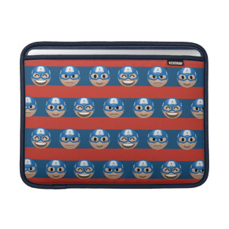 Captain America Emoji Stripe Pattern Sleeve For MacBook Air