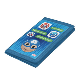 Captain America Emoji Trifold Wallet