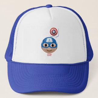 Captain America Emoji Trucker Hat