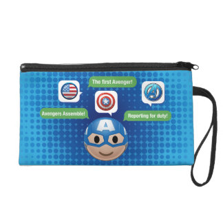 Captain America Emoji Wristlet