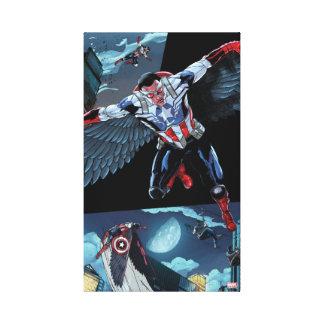 Captain America Fighting Crime Canvas Print