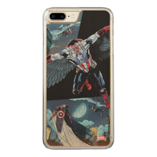 Captain America Fighting Crime Carved iPhone 8 Plus/7 Plus Case