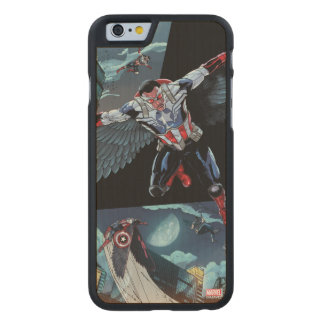 Captain America Fighting Crime Carved Maple iPhone 6 Case