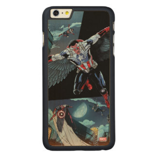 Captain America Fighting Crime Carved Maple iPhone 6 Plus Case