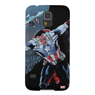 Captain America Fighting Crime Galaxy S5 Cover