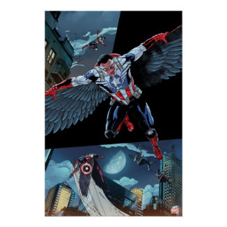 Captain America Fighting Crime Poster