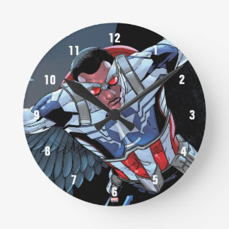 Captain America Fighting Crime Round Clock