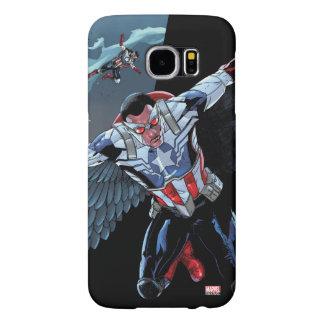 Captain America Fighting Crime Samsung Galaxy S6 Cases