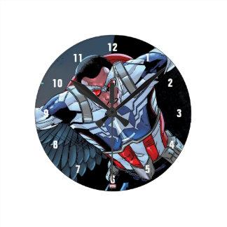 Captain America Fighting Crime Wallclocks