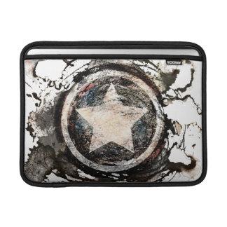 Captain America Grunge Shield Sleeve For MacBook Air