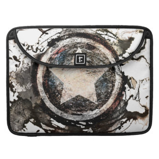 Captain America Grunge Shield Sleeve For MacBooks