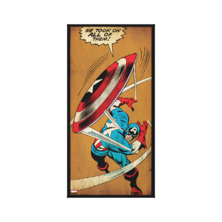 Captain America-He Took On All Of Them Canvas Print