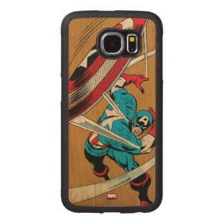 Captain America-He Took On All Of Them Wood Phone Case