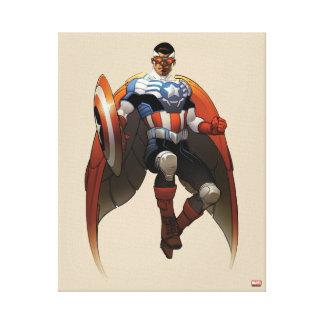 Captain America In Flight Canvas Print