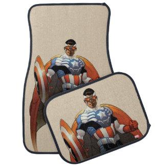 Captain America In Flight Car Mat