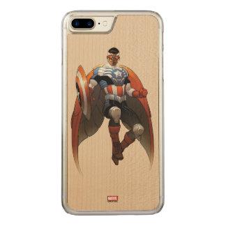 Captain America In Flight Carved iPhone 8 Plus/7 Plus Case