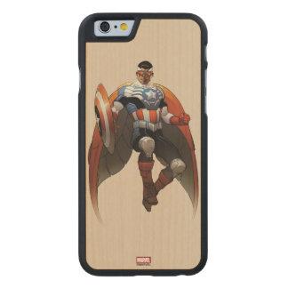 Captain America In Flight Carved Maple iPhone 6 Case