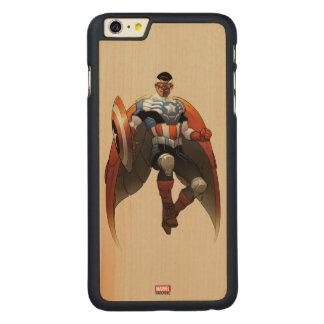 Captain America In Flight Carved Maple iPhone 6 Plus Case