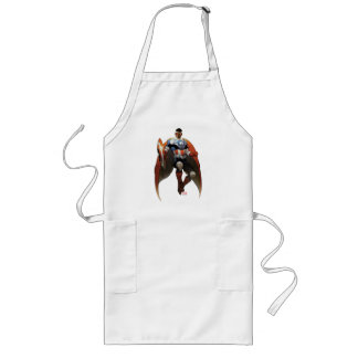 Captain America In Flight Long Apron