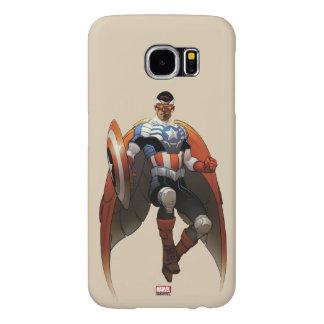 Captain America In Flight Samsung Galaxy S6 Cases
