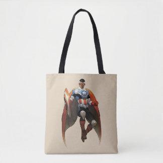 Captain America In Flight Tote Bag