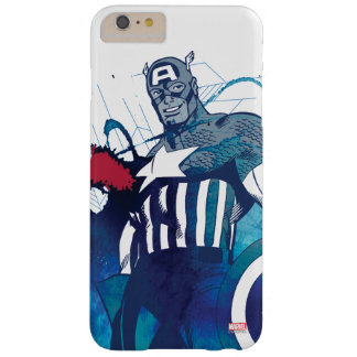 Captain America Ink Splatter Graphic Barely There iPhone 6 Plus Case