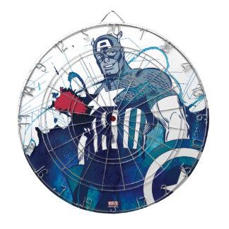 Captain America Ink Splatter Graphic Dartboard