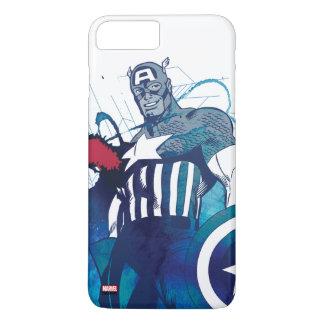 Captain America Ink Splatter Graphic iPhone 8 Plus/7 Plus Case