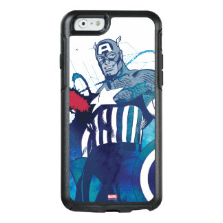 Captain America Ink Splatter Graphic OtterBox iPhone 6/6s Case