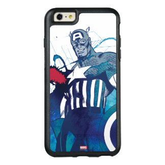 Captain America Ink Splatter Graphic OtterBox iPhone 6/6s Plus Case
