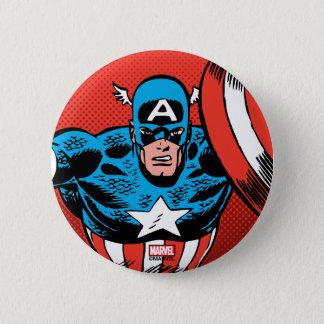 Captain America Jump 6 Cm Round Badge