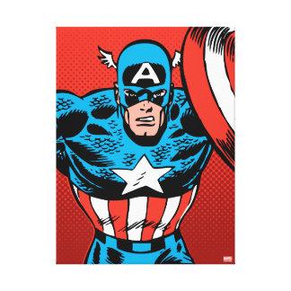 Captain America Jump Canvas Print