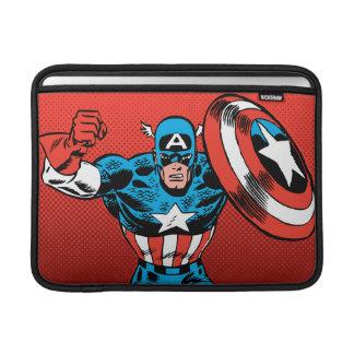 Captain America Jump MacBook Sleeve