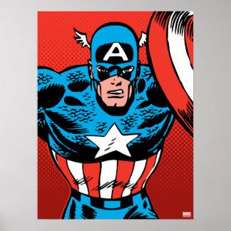 Captain America Jump Poster