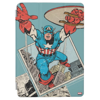 Captain America Leaping Out Of Comic iPad Air Cover