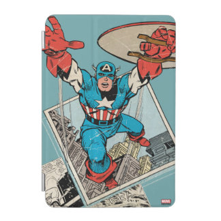 Captain America Leaping Out Of Comic iPad Mini Cover