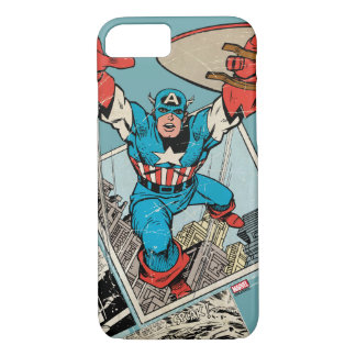 Captain America Leaping Out Of Comic iPhone 8/7 Case