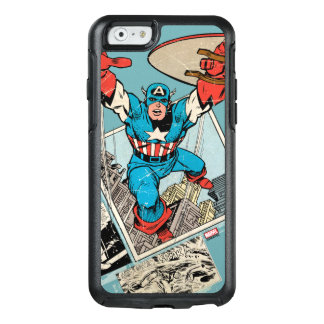 Captain America Leaping Out Of Comic OtterBox iPhone 6/6s Case