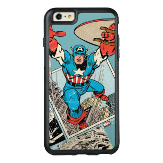 Captain America Leaping Out Of Comic OtterBox iPhone 6/6s Plus Case