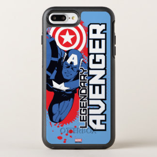 Captain America Legendary Avenger OtterBox Symmetry iPhone 8 Plus/7 Plus Case