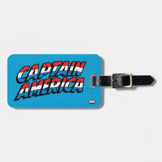 Captain America Name Logo Luggage Tag