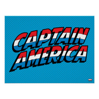Captain America Name Logo Poster