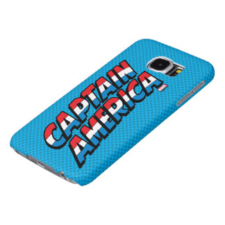 Captain America Name Logo Samsung Galaxy S6 Cases